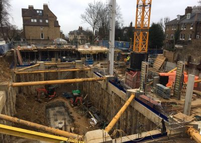 Excavation to 12m below ground at Fitzjohn's Avenue, London