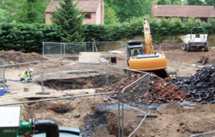 Photo of groundworks at the Old Gas Works Borough Bridge, informed by CGL's Geoenvironmental Services