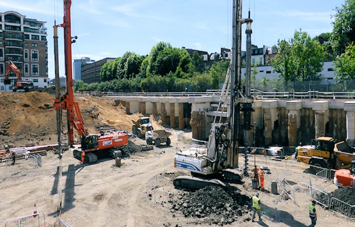 Photo of deep basement excavation, London - CGL Geotechnical and Geoengineering services