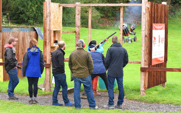 Clay Pigeon Shoot Goes off with a Bang