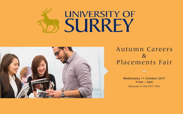 Meet CGL at the Surrey University Autumn Careers Fair