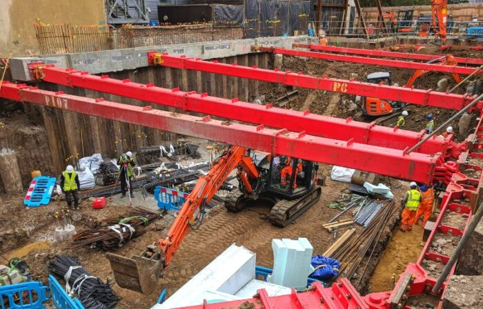 CGL Services Temporary works - photo of basement ground works